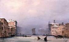 Photo Print Snow and Fog on the Grand Canal Caffi, Ippolito - in various sizes j