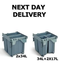 CARGO PULL OUT RECYCLE BIN FRONT FIX KITCHEN WASTE BIN SOFT AND SELF CLOSE 600mm