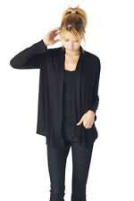 WOMEN BASIC SOLID JERSEY CARDIGAN OUTWEAR - Made in USA (MORE COLORS)