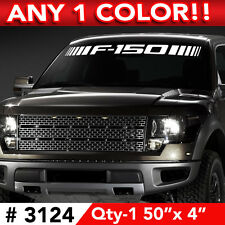 "F150 SLASHES WINDSHIELD DECAL STICKER 50""w x 4"" ANY 1 COLOR"