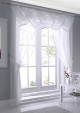 "Macrame Edged Voile Curtain Panels or Swags 54"", 72"" & 90"""