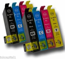 8 x Ink Cartridges 16XL ( Set of 2 ) Replacements For T1631, T1632, T1633, T1634