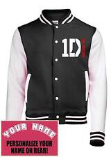 1D,One Direction Varsity, College, Letteman, Baseball Jacket. Add Your Name