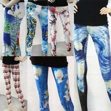 Graphic Trendy Celeb Style Leggings Starry Nightscape Goth Punk Van Gough Art US