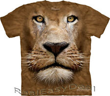 Child LION FACE Big Cat Jungle The Mountain T Shirt All Size 4 -14 Years 15-3598