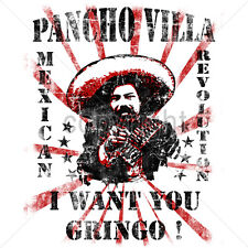 Pancho Villa Tshirt I Want You Gringo Mexican Revolution Soldier Mexico Heritage