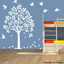 HAPPY TREE COT SIDE TREE & BIRDS DIY  Removable wall decal