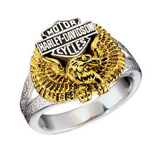 Ladies Harley-Davidson Sterling Silver Wings of Freedom Ring - NEW