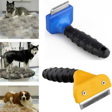 S/M/L Pet Dog Hair Trimmer Brush Comb Rakes Shedding Grooming Tool Blue Yellow