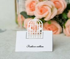 Laser Cut Birdcage Wedding Name Place Cards Table Cards,For Table Decoration