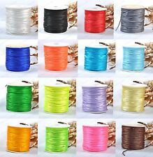 18Colour 1Roll Chinese Knot Nylon Beading Thread String Jewelry Making Cords 2MM