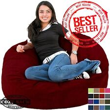 Bean Bag Chair  Factory Direct Cozy Sack Large 3' Premium Foam Filled  Comfort