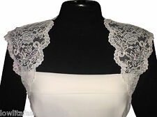 Womens Ivory/White Lace Bridal Bolero/Shrug/Jacket Size 8 to18 by Lowlita Design