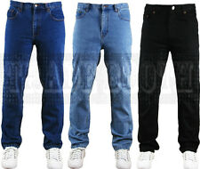 "NEW MENS BASIC HEAVY DUTY REGULAR STRAIGHT FIT DENIM JEANS HARD WEARING 30""--50"""
