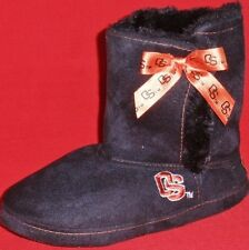 NEW Girl's Youths OREGON STATE Black/Orange Pull On Booties Slippers House Shoes