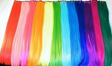 "SYNTHETIC LONG STRAIGHT CLIP IN HAIR EXTENSIONS - 22"" CHOOSE FROM 12 COLOURS"