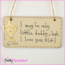 Unique Personalised Fathers Day Gift Present Idea Wooden Plaque For Dad Daddy