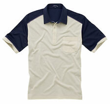 Pegasus Polo Shirt -Stone/Navy Different Sizes to 5XL  New