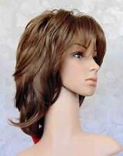 Long Thick Choppy Layered Shag Brown/Blonde Full Synthetic  Wig Wigs - #8