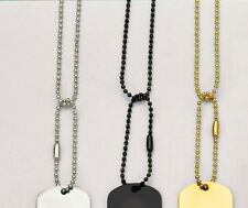 G.I. Military-Type Dog Tag Chains - No Tags - Silver, Gold, Black