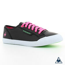 Le Coq Sportif DEAUVILLE PLUS LEA/FLUO Black/Pink Glo/Green Gecko Women's Shoes