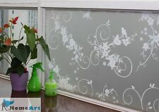 """new privacy window film floral decorative glass frosted 36""""x2 6 9 ft feet GW002"""