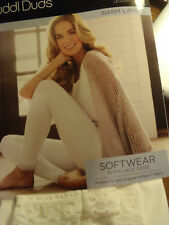 Cuddl Duds S M L XL Blush White Choice Warm Underwear Long John Pant Layer NWT