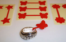 Red Butterfly / Star / Flower Jewellery Price Stickers, Tags, Labels, Dumbells,