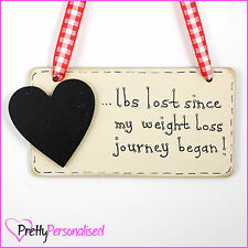 Weight Loss Diet Aid lbs Tracker Target Chalkboard Slimming Sign Weightwatchers