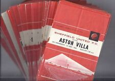 Sheffield Utd Home Football Programmes - 1962/63 & 1963/64