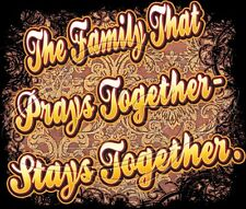 Religious Tshirt The Family That Prays Together Stays Together Christian Jesus