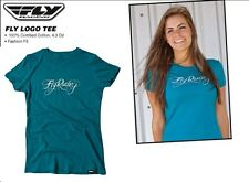 Girls Fly Racing Logo T-Shirt TEAL Hollister Dirt Bike Abercrombie Motocross MX