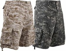 Vintage Infantry Cargo Shorts - Utility Digital Camo Shorts-Relaxed Fit - XS-3XL
