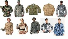Military Type B.D.U. Battle Dress Uniform Shirts - All Camos - S - 5XL