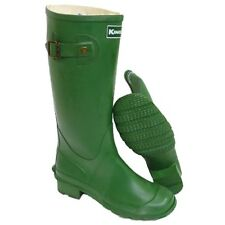 KIDS BLACK OR GREEN BOYS GIRLS WELLINGTON WELLIES RUBBER RAIN BOOTS SIZES 3 & 4