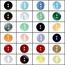 Fisheye Buttons - All Colours / Sizes For Craft / Sewing - Free 1st Class P&P