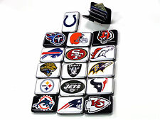 ALUMA SECURITY WALLET WITH NFL LOGOS, RFILD BOCKING, NFL MEMORABILIA - AFC  DIV.