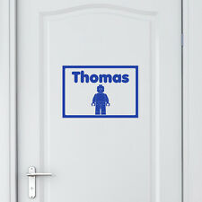 Personalised Wall Door Sticker Lego Man Vinyl Decal Transfer Children's Bedroom