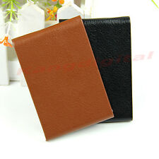 Leather Metal Magnetic Business Credit ID Name Card Wallet Case Holder Organizer