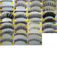 10 Pairs Natural False Eyelashes Invisible Clear Band For Women #B1