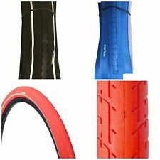 1 OF COLOURED 700 X 35 38 TYRE TIRE BLUE RED BLACK W/ REFLECTOR PUNCTURE PROT.