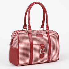 REUSABLE INSULATED LUNCH BAG IN A GINGHAM PATTERN FROM SACHI
