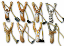 Catapult Collection.Hand Carved Animal:Skunk,Tiger,Fox,Squirrel,Eagle,Reindeer..