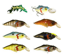 "STRIKE PRO JOINTED SUPERSONIC CRANKBAIT 2 3/4"" various colors"