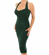 Blue Banana - New Fully Lined Ruched Halter Neck Dress