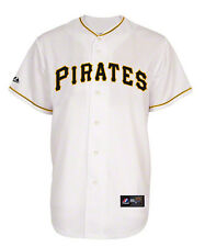 MLB Majestic Pittsburgh Pirates Youth Home White Replica Jersey