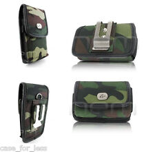 Heavy Duty Camo Horizontal+Vertical Rugged Case Cover Purse Clip for ATT Phones