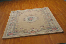 LOTUS PREMIUM FAWN BEIGE SOFT CHUNKY THICK LUXURY 100% WOOL PILE CHINESE RUG