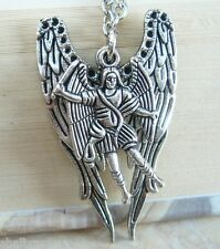 ARCHANGEL Double Angel Wings Saint Medal NECKLACE 7 Different Styles You Choose