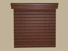 "2"" Faux Wood  Blinds *** 64"" WIDE ***  by  49"" to 60""  LENGTHS - Real Grain LOOK"